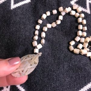 Vintage Jewelry - Star of David necklace mother of pearl beaded